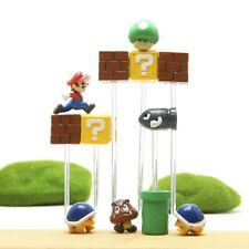 DIY Cartoon Super Mario Bros Mushroom Toy 2-3cm Plastic Kids Toys Action Figure
