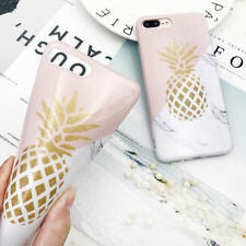 Cute Pineapple Pattern Soft TPU Skin Case Phone Cover For Apple iPhone 6s 7 8 X