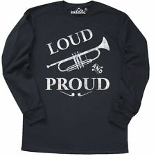 Inktastic Loud And Proud Trumpet Long Sleeve T-Shirt Music Brass Horn Band Play