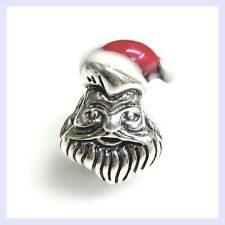 Sterling Silver Christmas Santa Claus Red Hat Bead for European Charm Bracelet