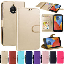 Luxury Flip Wallet Leather Card Holder Case Cover For Motorola Moto E4 / E4 Plus
