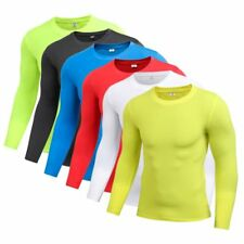 Mens Quick-Dry Compression Base Layer Top Thermal Under Skin T-Shirt Sports Gear