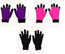 Poizen Industries Double Gloves In Black Pink Purple Gothic Emo Punk