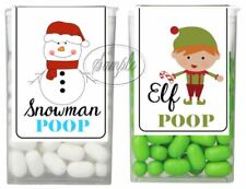 Christmas Stocking Stuffers Snowman Elf Poop Tic Tac Labels Stickers