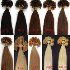 7A 100/200S Fusion Pre bonded U/Nail Keratin Tip Remy Human Hair Extensions