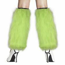 Women's Furry Fuzzy Leg Warmers Costume  - Choose color