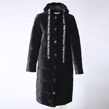 Women Winter Quilted Hooded Puffer Coat Jacket Long Down Cotton Parka Outwear