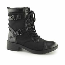 Rocket Dog THUNDER Ladies Womens Rounded Toe Lace Up Biker Boots Butter/ Black
