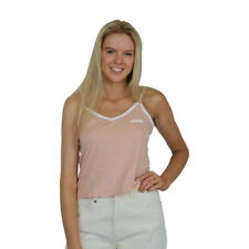 New Women's Afends Vault Logo Tank Top/Singlet Rose & White