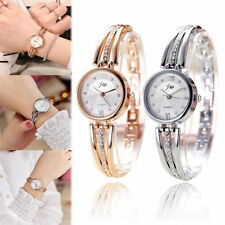 Women Stainless Steel Crystal Rhinestone Bracelet Dial Quartz Analog Wrist Watch