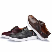 2018 Mens Retro British Brush Off Color Lace Up Walking Casual Flats Shoes New