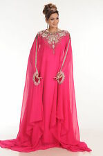 NEW FANCY ARABIAN ISLAMIC GEORGETTE WEDDING GOWN THOBE ELEGANT  DRESS 4169