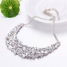 Big Womens Party Jewelry Crystal Statement Choker Necklace Bib Necklaces&Pendant