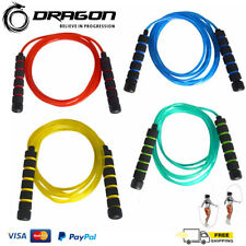 Adjustable Aerobic Exercise Boxing Skipping Jump Rope Foam Handle Fitness Cardio