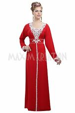 ORIGINAL MODERN ABAYA FANCY JILBAB ARABIAN KAFTAN WEDDING GOWN DRESS 6086