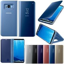 New Samsung Galaxy S8 Plus Note8 Clear View Mirror Leather Flip Stand Case Cover