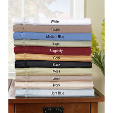 Twin Size 1000TC Egyptian Cotton 4 pc Bed Sheet Set!All Solid & Stripe Colors
