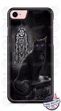 Halloween Scary Black Cat Witchcraft Phone Case Cover Fits iPhone Samsung