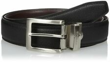 Nautica Mens Double Stitched Leather Reversible Belt - Black/Brown - 11NU08X019