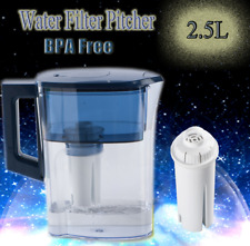 Water Filter Pitcher Jug Drinking Water Purifier Kettle BPA Free Filter 2.5L