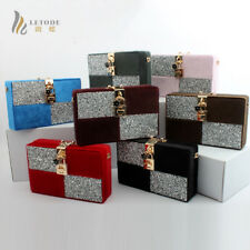 Women Purse Luxury Evening Bag Clutch Diamond Wallet Shoulder Handbag Colorful