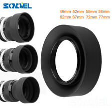 49 52 55 58 62 67 72 77mm 3-Stage 3 in1 Collapsible Rubber Foldable Lens Hood