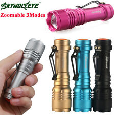 SkyWolfeye 20000LM CREE Q5 LED Flashlight Zoomble  Torch Light Lamp AA/14500@