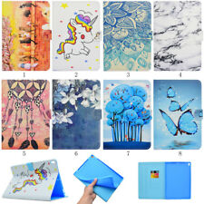 For iPad /Samsung /Kindle Tablet PU Leather Pattern Shell Wallet Case Skin Cover