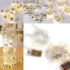 10/20 LED String Fairy Lights Christmas Xmas Home Party Holiday Decorations Set