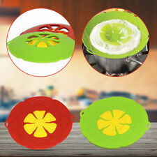 Anti Overflow Splash Silicone Cooking Pot Cover Saucepan Spill Lid Kitchen Tool