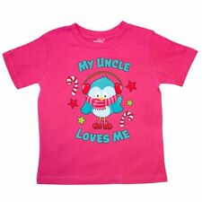 Inktastic My Uncle Loves Me With Christmas Bird Toddler T-Shirt Family Merry Kid