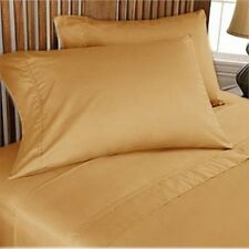 Bedding Duvet/Fitted/Flat 1000 TC Egyptian Cotton Gold Solid US-Sizes