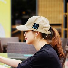 Wireless Bluetooth Smart Hat Headset Headphone Speaker Mic Talking Baseball Cap