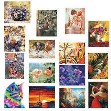 Canvas Oil Painting Paint By Numbers Kit Wall Art Poster DIY Home Decor