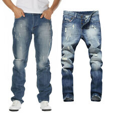 US Casual Men's Stylish Designed Distressed Straight Slim Jeans Jean Pants 30-42