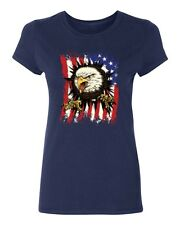Eagle Ripping Through The American Flag Women's T-shirt patriotic USA tee
