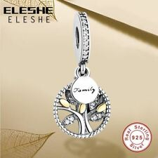 Charm Pendant 925 Sterling Silver Crystal Bead Bracelet DIY Charms Jewelry Sale