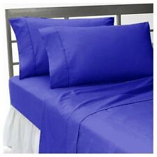 Egyptian Blue Solid  All Bedding Collection 1000TC Egyptian Cotton Queen Size