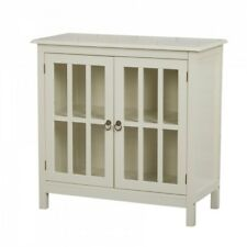 China Curio Hutch China Cabinet Antique White Adjustable Shelf Dining Furniture