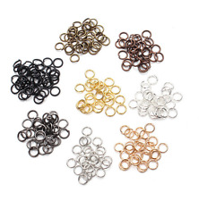 DIY Silver Gold Pewter Plated Open Split Jump Rings Connectors Jewelry Findings