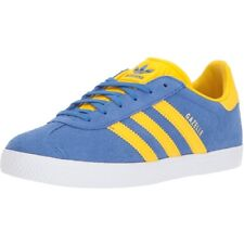 adidas Originals Gazelle J Blue/Equipment Yellow Suede Youth Trainers Shoes