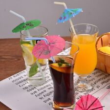 20PCS UMBRELLA COCKTAIL DRINKING STRAWS Restaurant Catering Pub Club Party Color