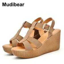 Mudiber Super High heels sandals women 2017 summer Fashion Princess wedges heel