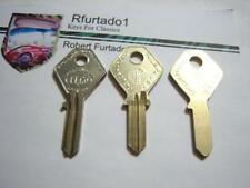 Key Blank for Vintage British Leyland, British, French Classic (see code series)