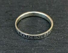 Genuine 925 Sterling Silver Friendship Ring, Friends Forever Size 6, 8 Jewelry