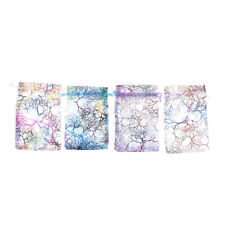 50x/pack 10x15cm coralline Organza Jewelry Pouch Wedding Party Favor Gift Bag GD