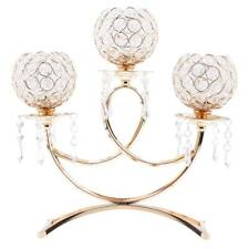 Crystal Metal Votive Tea Light Candle Holder Candelabra Wedding Tabletop Decor