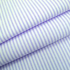 Candy 3mm Woven Chambray Stripe - Lilac - Cotton Blend Fabric Dressmaking Patchw