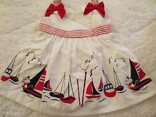 Dress White Sailor Baby Baby Girl 0-3 mos Gymboree NWTS 2PC & diaper cover