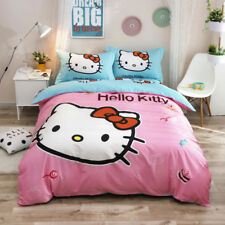 Pink Candy Hello Kitty Quilt Duvet Doona Cover Set Single Queen Size 100% Cotton